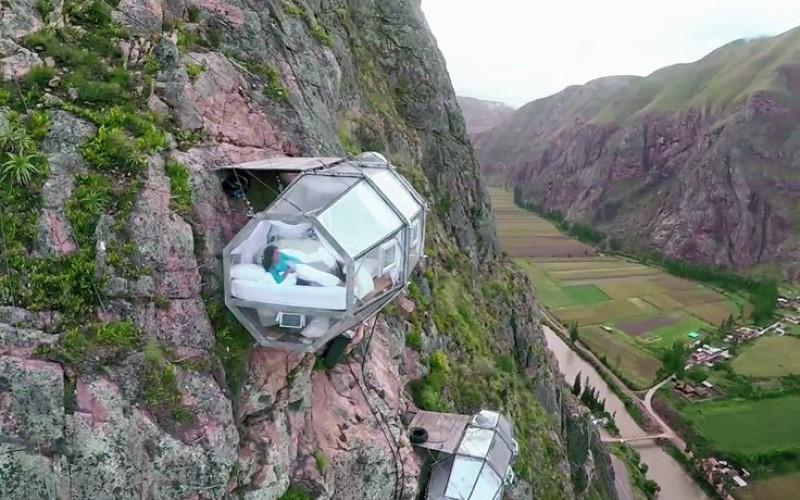 Skylogde Adventure, un hotel a prueba de vertigo en Perú