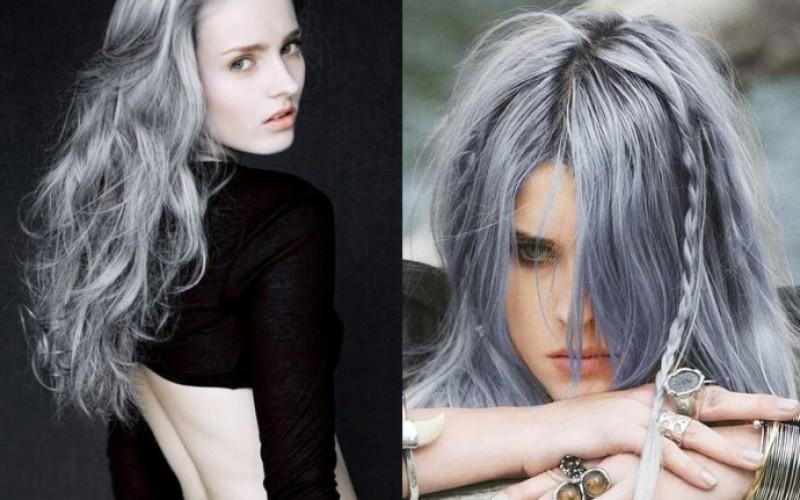 Colores de cabello fantasia gris