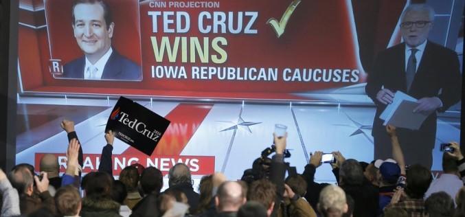 Ted Cruz ganó la convención republicana de Iowa