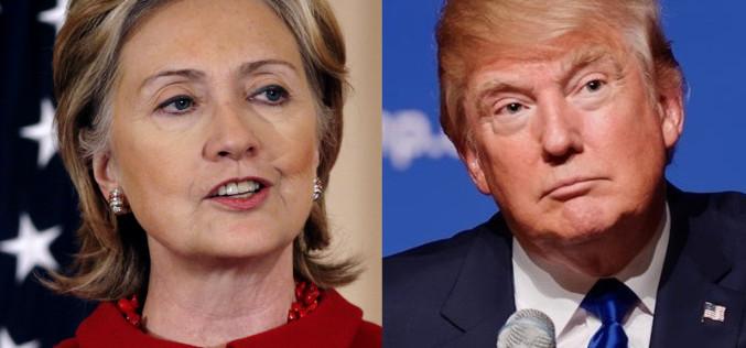 Elecciones ajustadas: Clinton con 4 puntos por delante de Trump