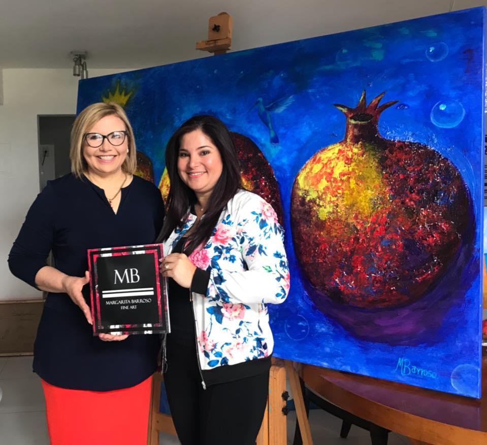 """Margarita Barroso:""""Estoy empeñada en mostrar al mundo el color y la belleza de mi arte"""""""