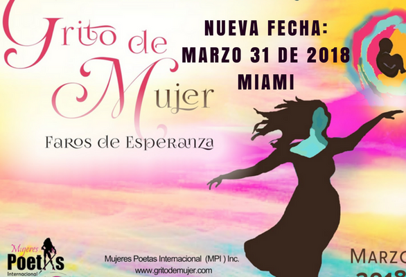 """Miami celebrará el 8vo Festival Internacional de Poesía """"Grito de Mujer"""""""