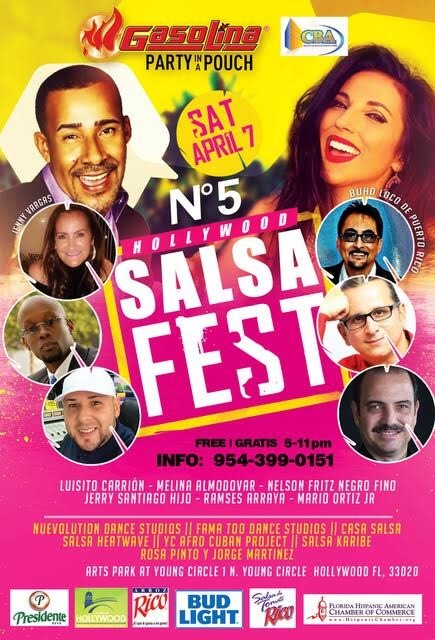 El Hollywood Salsa Fest se realizará este 7 de abril
