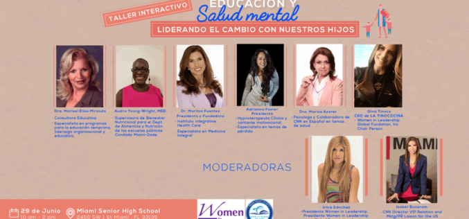 Women In Leadership y escuelas de Miami Dade realizarán taller educativo