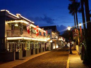 Navidades en Florida: San Agustín celebra vestida de luces