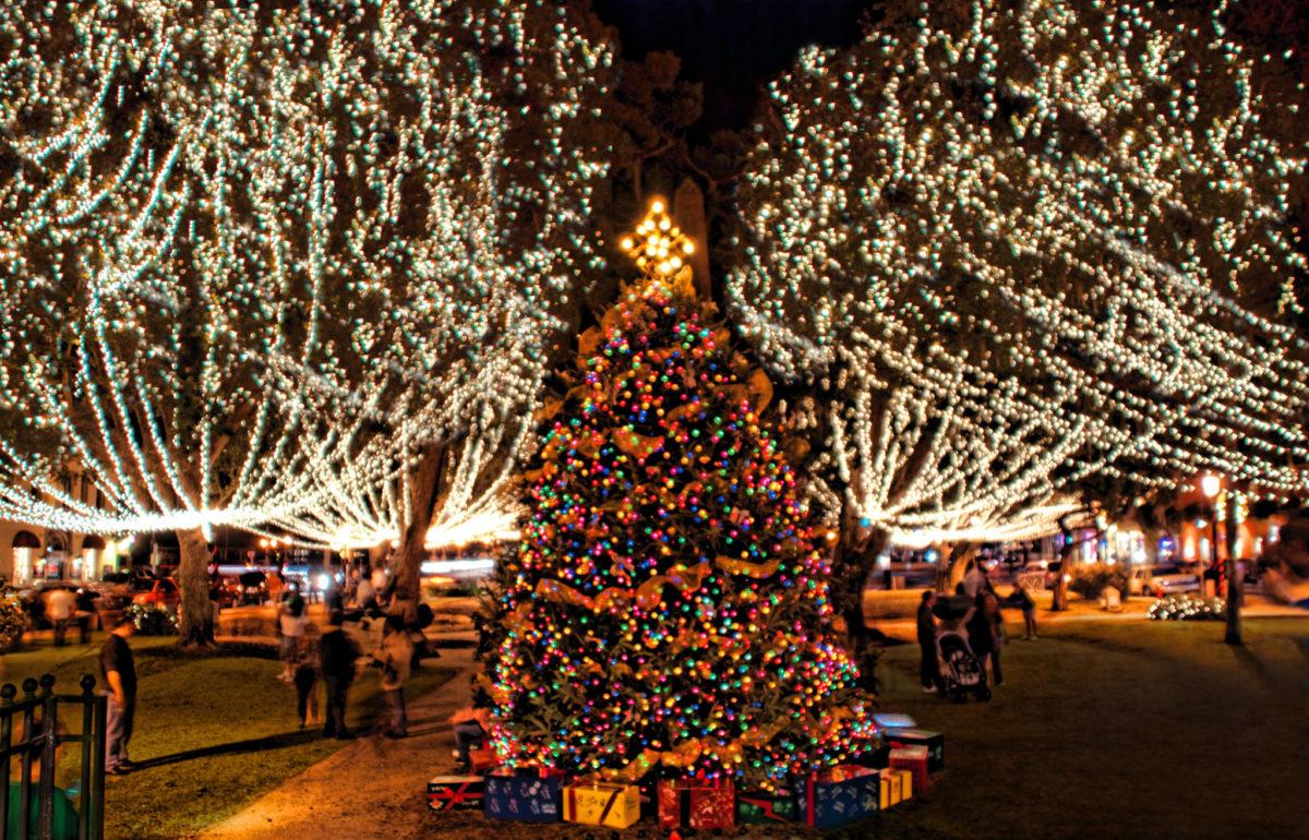 Noches de luces navideñas en San Agustín
