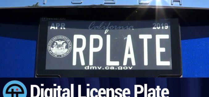 ¿Para qué sirven las nuevas placas digitales de carros aprobadas en EE.UU?