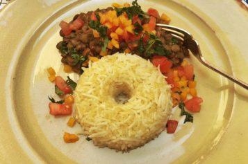 Quinua, arroz y lentejas