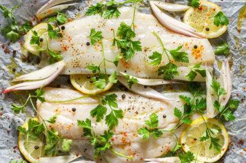Bacalao horneado con un toque de salsa de soya