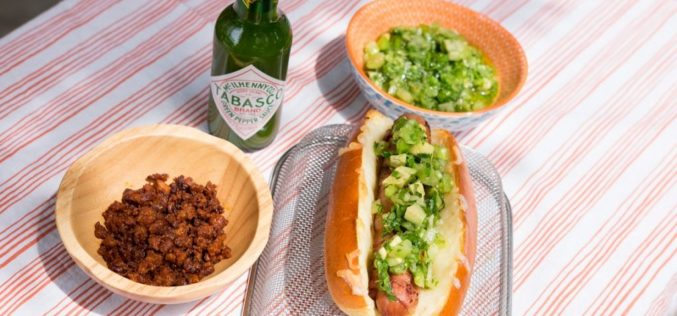 Hot Dogs mexicanos con Pico Verde